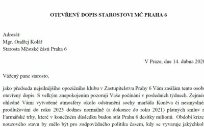 Zneužívání nouzového stavu na Praze 6 – Otevřený dopis starostovi Ondřejovi Kolářovi